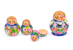 Group of Russian nesting dolls Royalty Free Stock Photography