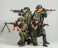 Group of russian soldiers Stock Photos