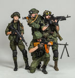 Group of russian soldiers Royalty Free Stock Photo