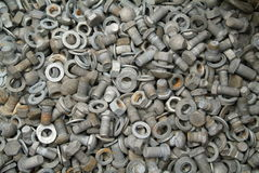 Group of rusted bolts. Multitude of rusted bolts Royalty Free Stock Photography