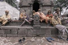 Group of Sadhus - holy men Stock Image