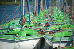 Group of sailboats Stock Photography