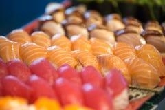 Group of salmon sashimi Royalty Free Stock Photography