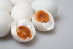 group of salted duck egg; close up Stock Images