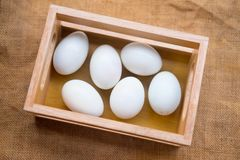 Group of salted duck egg. Preserved food made by soaking duck eggs stock photography