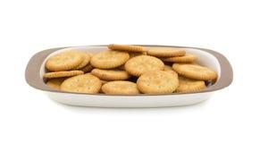 Round Salty Cookies. Group of salty cookies or namkeen Royalty Free Stock Image