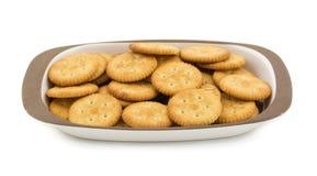 Round Salty Cookies. Group of salty cookies or namkeen Stock Images
