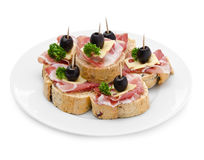 Group of sandwich appetizers Stock Images