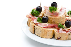 Group of sandwich appetizers Stock Photo