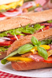 Group of sandwiches Royalty Free Stock Photos