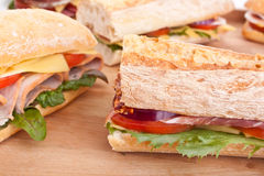 Group of Sandwiches Royalty Free Stock Photo