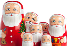 Group Of Santa Claus Royalty Free Stock Photo