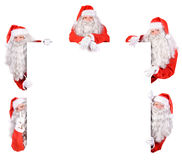 Group of Santa Claus Stock Photo