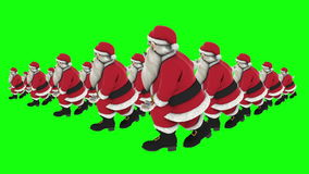 Group of Santa hip hop dance Green Screen Background 7