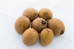 Group of Sapodilla isolated Stock Image