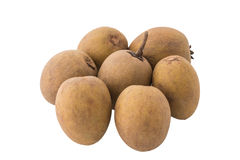 Group of Sapodilla isolated Stock Photography