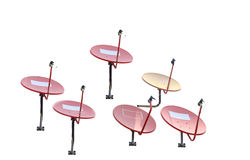 Group of satellite dish isolated Royalty Free Stock Photos