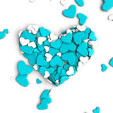 The group scattered hearts on a white background. Valentine`s day background. The group scattered hearts on a white background . Valentine`s day background. 3d Royalty Free Stock Images