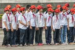 Group of school children in uniform at parade ground Ho Chi Minh Royalty Free Stock Images
