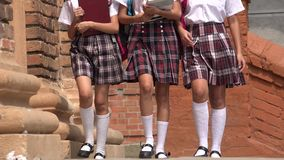 School Girls Wearing Skirts. Group of School Girls Wearing Skirts Royalty Free Stock Photography
