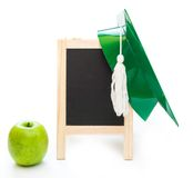 Group of school objects on a white background Royalty Free Stock Photos