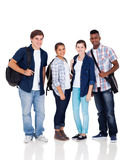 Group school students. Group of high school students isolated on white stock photos