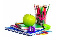Group of school supplies Royalty Free Stock Photos
