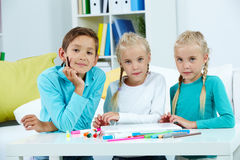 Group of schoolchildren Stock Image