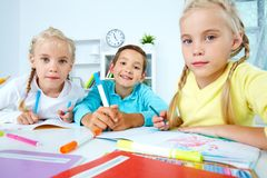 Group of schoolchildren Royalty Free Stock Image