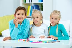Group of schoolchildren Royalty Free Stock Images