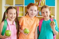 Group of schoolgirls Stock Images