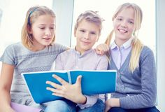 Group of schoolkids Royalty Free Stock Photography