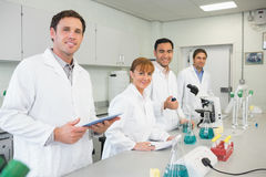 Group of scientists working in the lab Royalty Free Stock Image