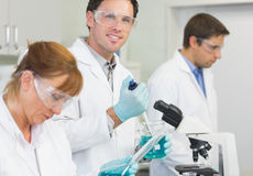 Group of scientists working at the laboratory Stock Photography
