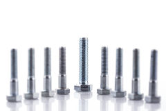 Group of screw-bolts Stock Image