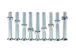 Group of screw Stock Image