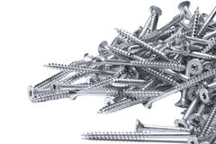 Group of screws. On a white background Royalty Free Stock Images
