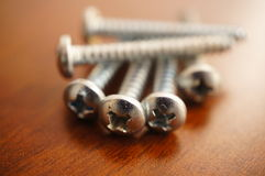 Group of screws Stock Image