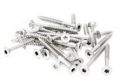 Group of screws on white background Royalty Free Stock Photography