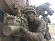 Group sculpture. Jianjun Sculpture Square is located in Fenghuangzhou Citizen Park, Honggutan New District, Nanchang City. It covers an area of  stock image