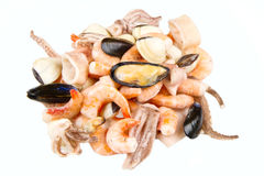 A group of seafood frozen Stock Image
