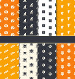 Group Seamless Patterns for Happy Halloween. Illustration Group Seamless Patterns for Happy Halloween - Vector Stock Photography