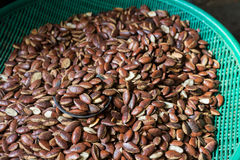 The group of seed wild almond as background Stock Photography