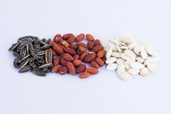 Group of nuts collection Stock Photography
