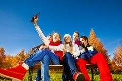 Group self photo Royalty Free Stock Photos