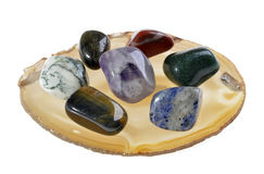 Group of semi precious stones Stock Photography