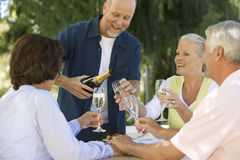 A group of senior couples celebrating Stock Photography