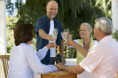 A group of senior couples celebrating Royalty Free Stock Photo