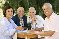 A group of senior couples celebrating Royalty Free Stock Photography
