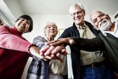 Group of senior friends support concept Royalty Free Stock Photography